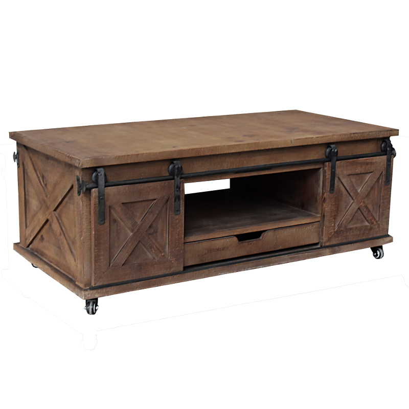 grande table basse industrielle campagne bois de salon 120 cm l 39 originale d co. Black Bedroom Furniture Sets. Home Design Ideas