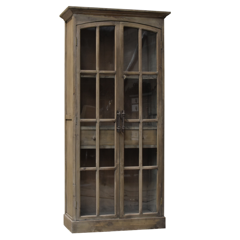 grande biblioth que armoire vitr e style ancien meuble. Black Bedroom Furniture Sets. Home Design Ideas