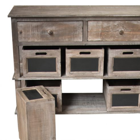 Console Table de Drapier Commode Bahut à Tiroirs Casiers 100 cm
