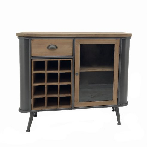 Bahut Commode Armoire Bar à Vin Industriel 92 cm x 79 cm
